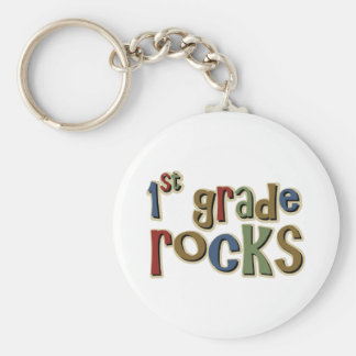1st Grade Rocks First Keychain