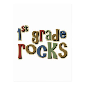 1st Grade Rocks First Postcard