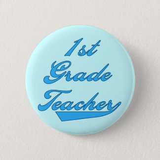 1st Grade Teacher Blue Tshirts and Gifts 6 Cm Round Badge