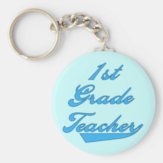 1st Grade Teacher Blue Tshirts and Gifts Key Chains