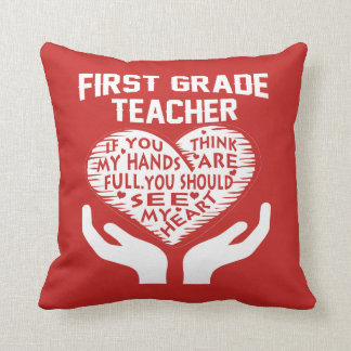 1st Grade Teacher Cushion