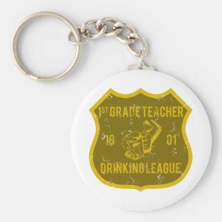 1st Grade Teacher Drinking League Key Chains