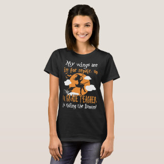 1st Grade Teacher Riding The Broom Halloween Tshir T-Shirt