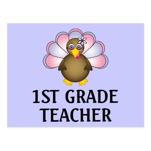 1st Grade Teacher Turkey Post Cards