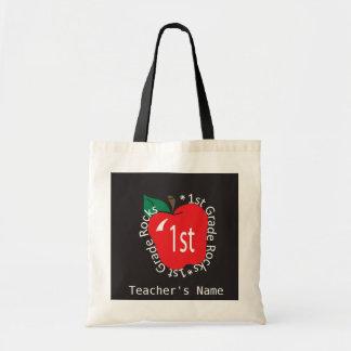 1st Grade Teachers Rock | DIY Name Budget Tote Bag