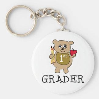 1st Grader Basic Round Button Key Ring