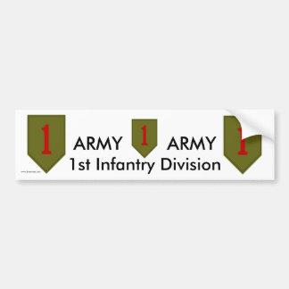 1st Inf Div bs/1 Bumper Sticker