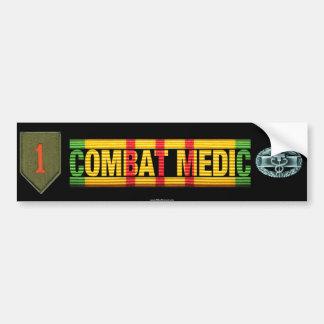 1st Inf. Div. Vietnam COMBAT MEDIC Sticker Bumper Stickers