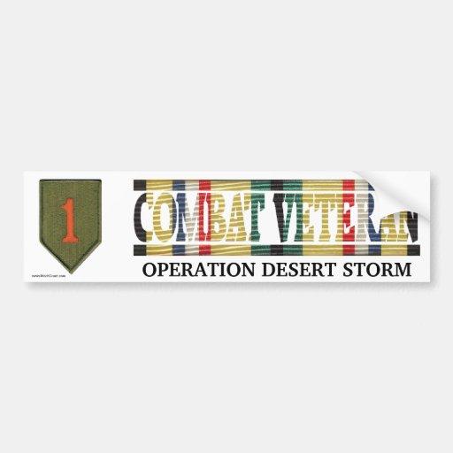 1st Infantry Div. SWA Combat Veteran Sticker Bumper Sticker