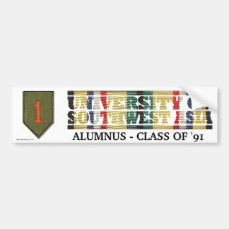 1st Infantry Div U of Southwest Asia Sticker Car Bumper Sticker