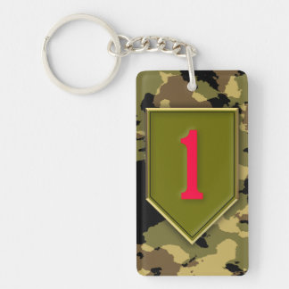 1st Infantry Division Double-Sided Rectangular Acrylic Keychain