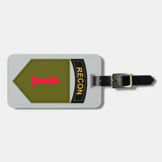 1st Infantry Division Recon Luggage Tag