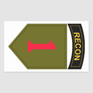 1st Infantry Division Recon Rectangular Sticker