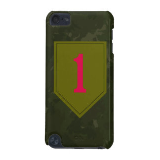 """1st Infantry Division """"The Big Red One"""" WW II Camo iPod Touch 5G Cases"""