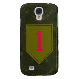 """1st Infantry Division """"The Big Red One"""" WW II Camo Samsung Galaxy S4 Cases"""