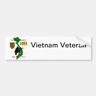 1st Infantry Division Vietnam Veteran Bumper Stick Bumper Sticker