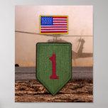 1st Infantry Division Vietnam War Patch Print