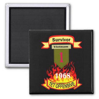 1st Infantry Survivor Vietnam Tet Offensive Magnet