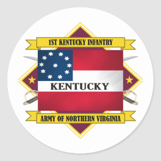 1st Kentucky Infantry Classic Round Sticker