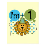 1st Lion Birthday Tshirts and Gifts Post Card