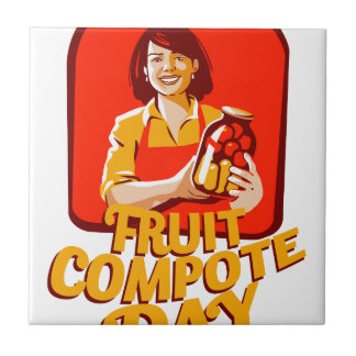 1st March - Fruit Compote Day - Appreciation Day Ceramic Tile