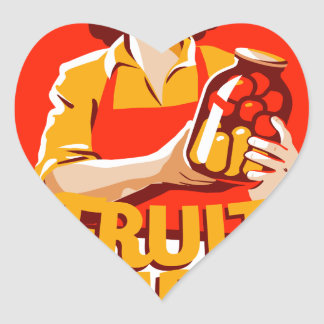 1st March - Fruit Compote Day - Appreciation Day Heart Sticker