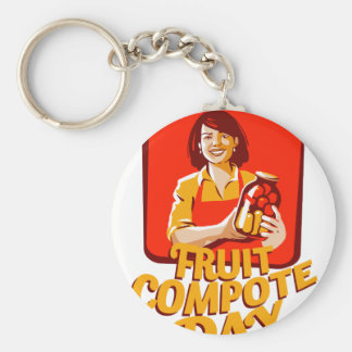1st March - Fruit Compote Day - Appreciation Day Key Ring