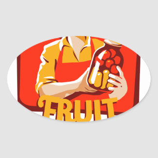 1st March - Fruit Compote Day - Appreciation Day Oval Sticker