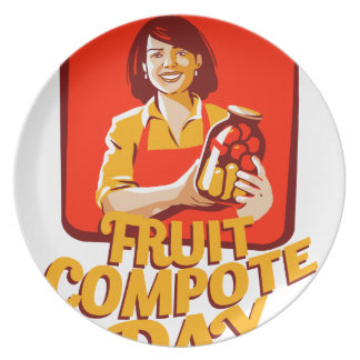 1st March - Fruit Compote Day - Appreciation Day Party Plate
