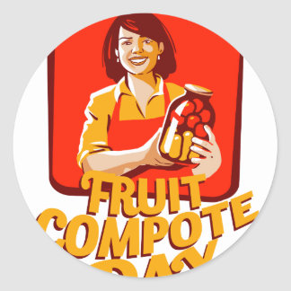 1st March - Fruit Compote Day - Appreciation Day Round Sticker
