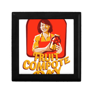 1st March - Fruit Compote Day - Appreciation Day Small Square Gift Box