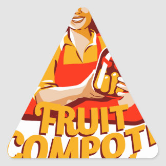 1st March - Fruit Compote Day - Appreciation Day Triangle Sticker