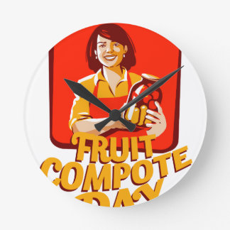 1st March - Fruit Compote Day - Appreciation Day Wallclock