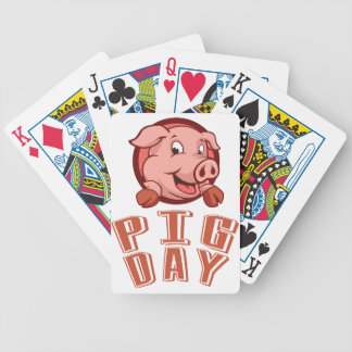 1st March - Pig Day Bicycle Playing Cards