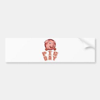 1st March - Pig Day Bumper Sticker