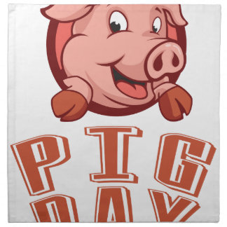 1st March - Pig Day Napkin