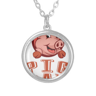 1st March - Pig Day Silver Plated Necklace