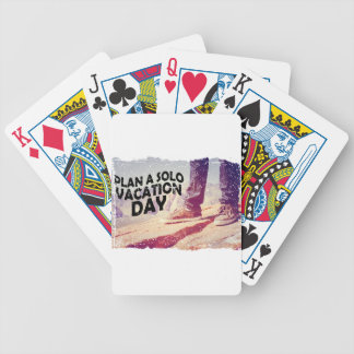 1st March - Plan A Solo Vacation Day Bicycle Playing Cards