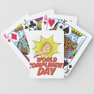 1st March - World Compliment Day Bicycle Playing Cards