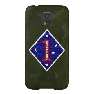 """1st Marine Division """"The Old Breed"""" WW II Camo Galaxy S5 Cases"""
