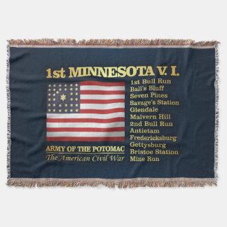 1st Minnesota Volunteer Infantry (BH) Throw Blanket