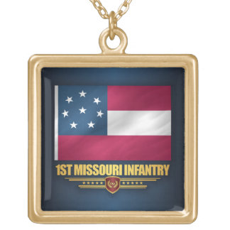 1st Missouri Infantry Gold Plated Necklace