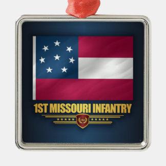 1st Missouri Infantry Silver-Colored Square Decoration