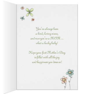 1st Mother's Day - Special Niece - Baby Carriage Card