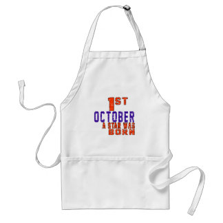 1st October a star was born Standard Apron