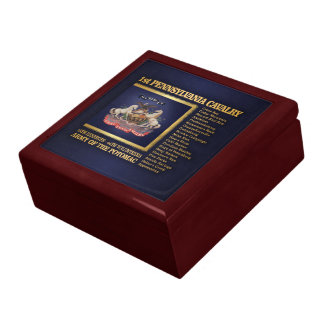 1st Pennsylvania Cavalry (BH) Large Square Gift Box