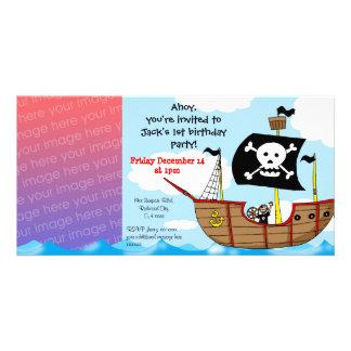 1st pirate birthday boy party invitations