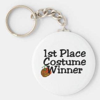 1st Place Costume Winner Pumpkin Basic Round Button Key Ring