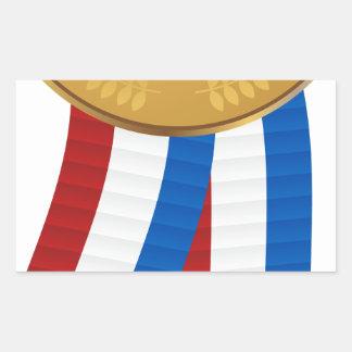 1st Place Gold Medal Rectangular Sticker