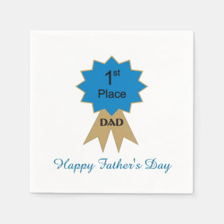 1st Place Ribbon Father s Day Paper Napkins